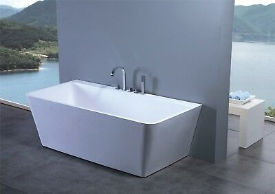 Luxury Solid Surface Contemporary Modern Bathtub 63""