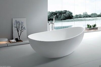 Bathtub Freestanding - Solid Surface Bathtub - Modern Soaking Tub - Roma 65.4""