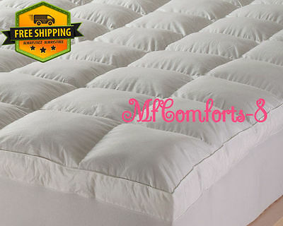 Goose Feather & Down Enhancer Mattress Topper Cover White All Sizes