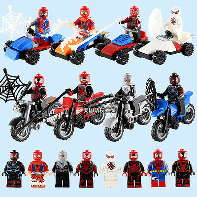 Compatible Lego 8+8stes The Amazing Spider-Man Minifigures Superhero Toy Gift
