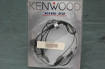 Kenwood KHS-22 Behind-the-neck Headset w/ Boom Mic PTT for Two-Way Radios NEW