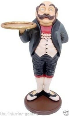 Royal Butler w/ Tray - Butler Statue - Royal Butler Statue with Serving Tray 3'