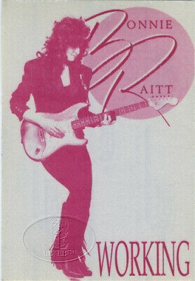 BONNIE RAITT 1989-1990 Nick Of Time Tour Backstage Pass