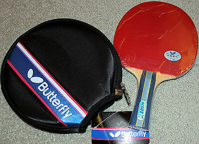 Butterfly TBC501 TBC-501 Table Tennis Bat with Case Shakehand FL, Melbourn