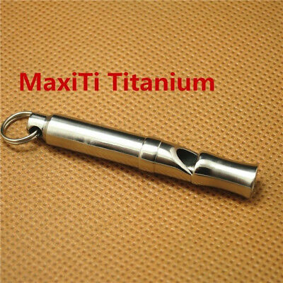 MaxiTi titanium whistles survival rescue emergency camping hiking pendant