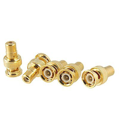 5 Pcs BNC Male Plug to RCA Female Jack RF Coax Adapter Connector AD