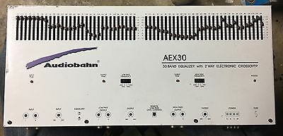 Old School Audiobahn 30 Band Equalizer With 2 Way Electronic Crossover,Rare,SQ