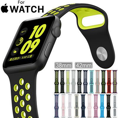 Replacement Silicone Nike Sports Strap For Apple Watch Band Series 2 /1