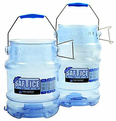 San Jamar SI6100 Original and Shorty Saf-T-Ice Tote, 5 gallon Capacity(Pack o...