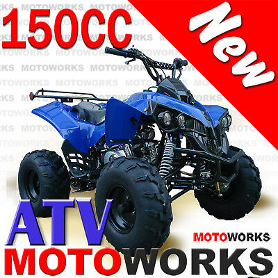 MOTOWORKS RAIDER 150CC ATV QUAD Dirt Bike Buggy Go Kart 4 Wheeler Sports BLUE