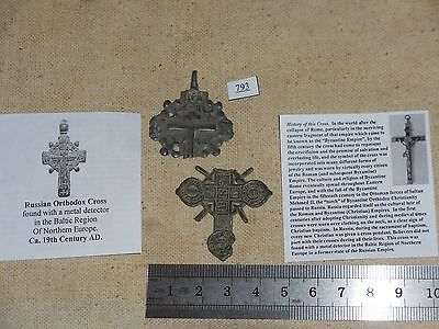 Two Russian Orthodox Cross, Found in Northern Europe