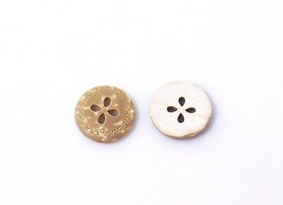 Flower Coconut Shell Sewing Button 13mm 50pcs