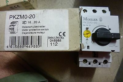 Moeller Motor Protective Switch Pkzm0-20 16-20A 112