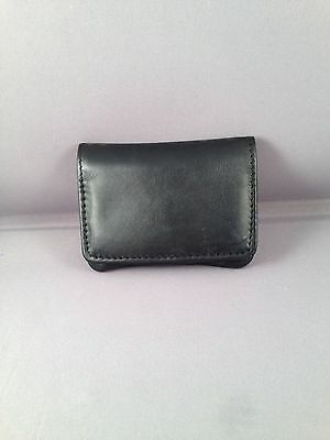 SMALL Leather Tobacco Cigarette Rolling Pouch- Black Dr Plumb 5537