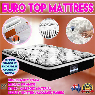 NEW Medium Firmness Euro Top Sleeping Bed Matress Double Queen King