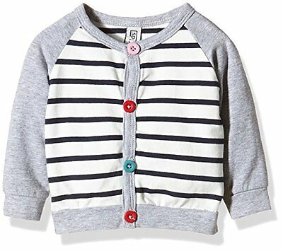 Magic Kids Sweater With stripes-Cardigan Bambina, Grau (grey/rose 5500), 68 cm