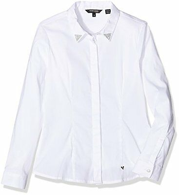 A009 OPTIC WHITE (TG. Medium) GUESS, LS SHIRT - J64H64EK600 - Camicia da bambina