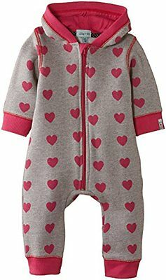 grigio (Grau) (TG. Taglia produttore: 0-6 Mesi) Lilly and Sid - Girls Outersuit,