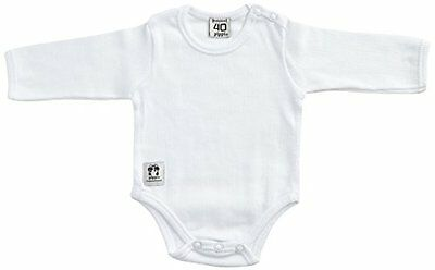 Pippi - Body Ls W.buttons O.shoulder, Body unisex bimbi, Weiß - Weiß, 19