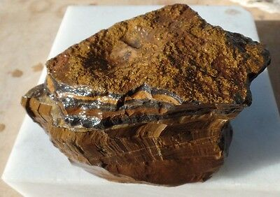 700g Australian tigers eye mineral specimen collection lapidary rough - TB290