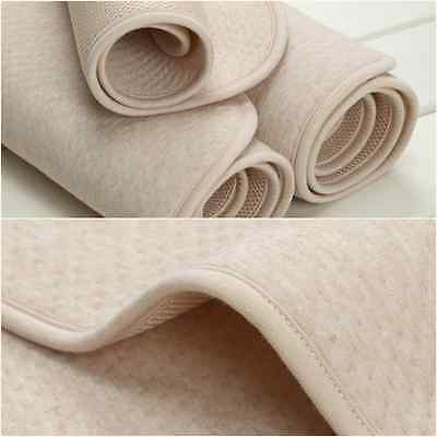 Mattress Protector 100cm by 80cm - Breathable, waterproof cotton top layer.