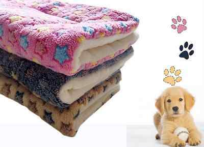 Soft Warm Pet Fleece Blanket Bed Mat Pad Cushion  Dog Cat Puppy Thick Cover