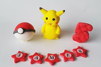 POKEMON edible cake toppers personalised birthday decoration