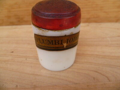 Vintage Old Apothecary, Medical Bottle Jar With Label, (B461)