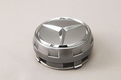 Set of 4 silver Raised Center Wheel Caps For Mercedes Benz AMG Wheels #AAA