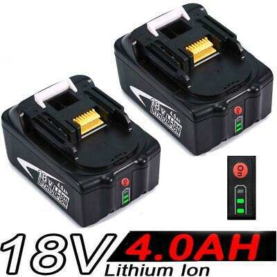 2x 4.0AH 18V Battery For Makita BL1840 BL1830 BL1815 LXT Lithium Ion Cordless