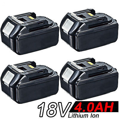 4x 4.0AH 18V Battery For Makita BL1840 BL1830 BL1815 LXT Lithium Ion Cordless