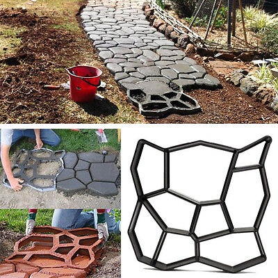 45cm DIY Plastic Garden Path Maker Mold Manually Paving Cement Brick Stone Road