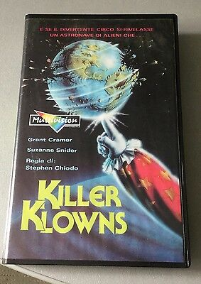 VINTAGE Anni 80# VHS VIDEOCASSETTA KILLER KLOWNS FROM THE OUTER SPACE #1 EDITION