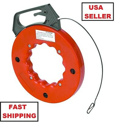 50 Foot Fish Tape, Flexible Steel, Wire Cable Puller, Electrician, Electrical
