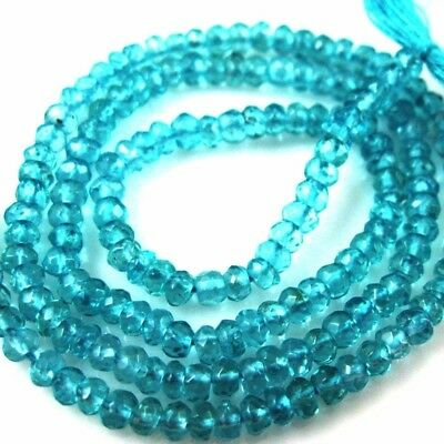 Gemstone Beads-Apatite Micro Faceted Rondelle -Micro Gemstones-2.5-3mm-13 inches