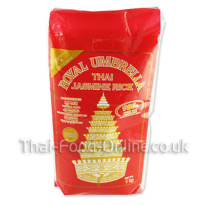 Authentic Thai Jasmine (Fragrant) Rice (1kg) by Royal Umbrella - UK Seller