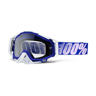 100% – Racecraft Blue/White Clear Lens Goggles