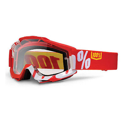 100% – Accuri Red Clear Lens Goggles