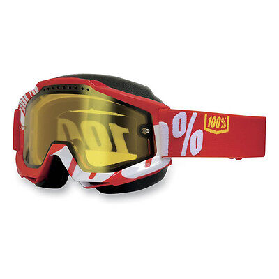 100% – Accuri Snow Red Yellow Lens Goggles