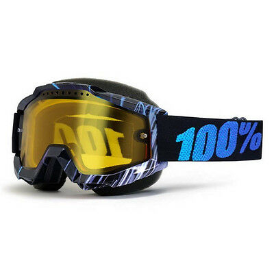 100% – Accuri Snow Blue Weld Yellow Lens Goggles