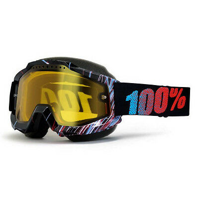 100% – Accuri Snow Red Weld Yellow Lens Goggles