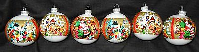 Vintage Shrink Wrapped Christmas Scene Ornaments Plastic