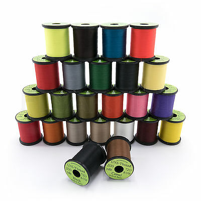 8/0 UNI-THREAD Waxed Fly Tying - 200 yds - Available in 24 Colors!