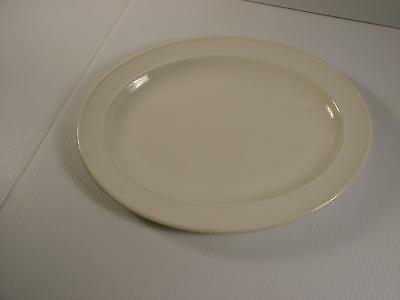 J G Meakin Ironstone White Ice Oval Plate Made In England