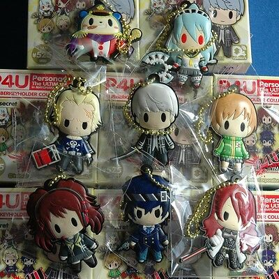 Persona 4 Teddy D4 Rubber Key Chain Anime Licensed NEW
