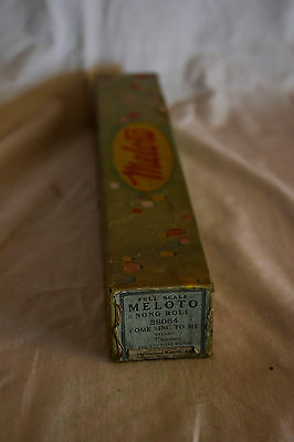 Antique MELOTO Player Piano, Pianola Roll COME SING TO ME