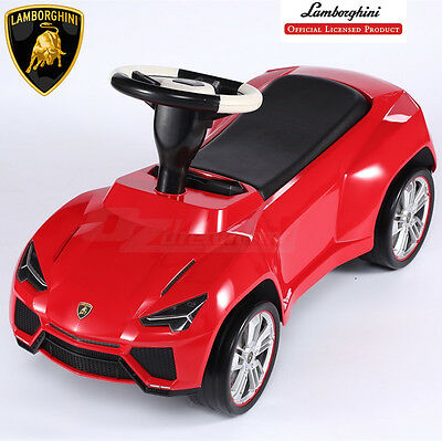 Lamborghini Licenced Ride On Foot To Floor First Car Baby Toddler Kids Toy Red