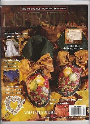 INSPIRATIONS MAGAZINE issue 77 pattern attached BEAUTIFUL EMBROIDERY
