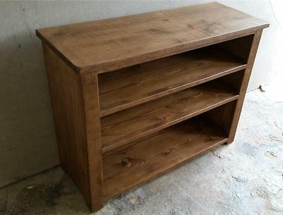 Solid Real Wood Bookcase Bookshelves Chunky Rustic Plank Pine Furniture