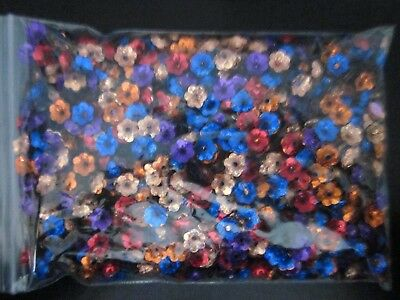 Flower - 10mm Bead caps -  Sequin Beads - Mixed Color - 150 grams bag - no. 2B